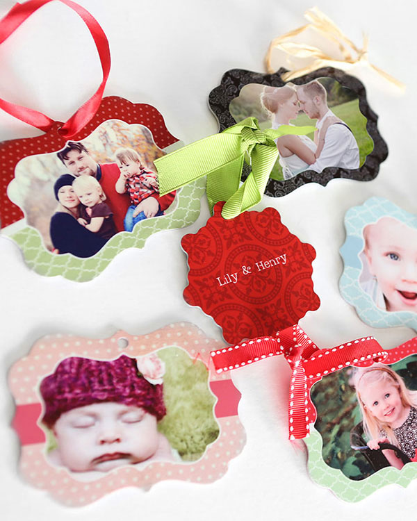 Customized Metal Photo Ornaments - Color Services