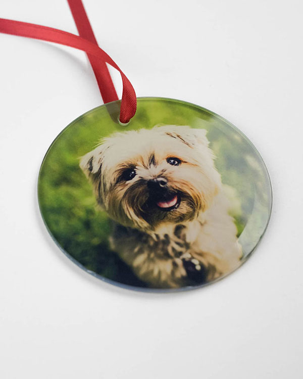 Customized Glass Photo Ornaments - Color Services