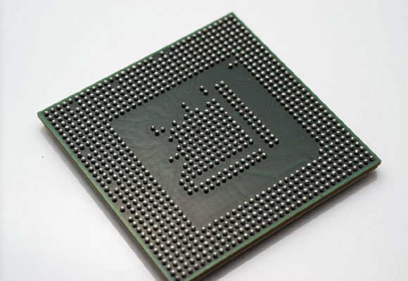 A PCB ball grid array with computer vision defect inspection