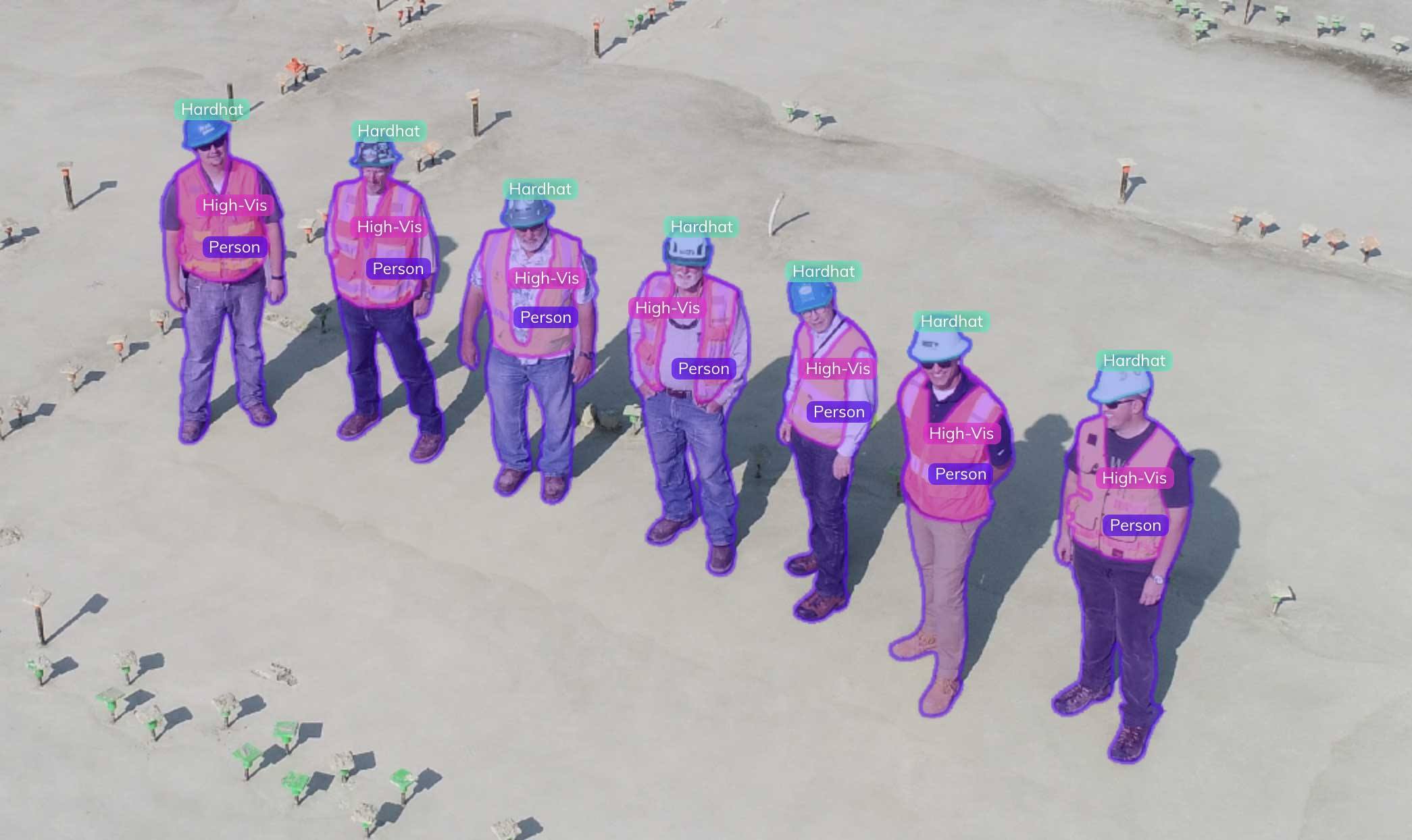 worker PPE detection computer vision AI