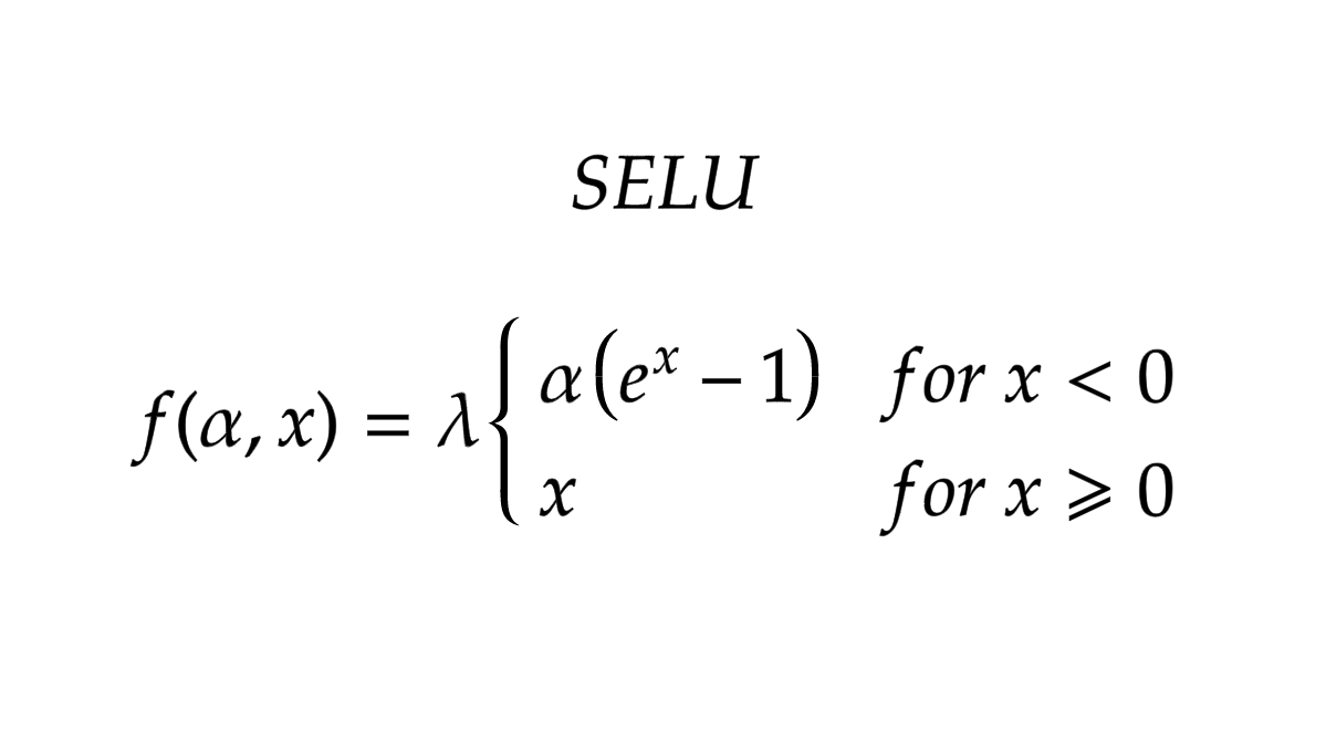 SELU formula