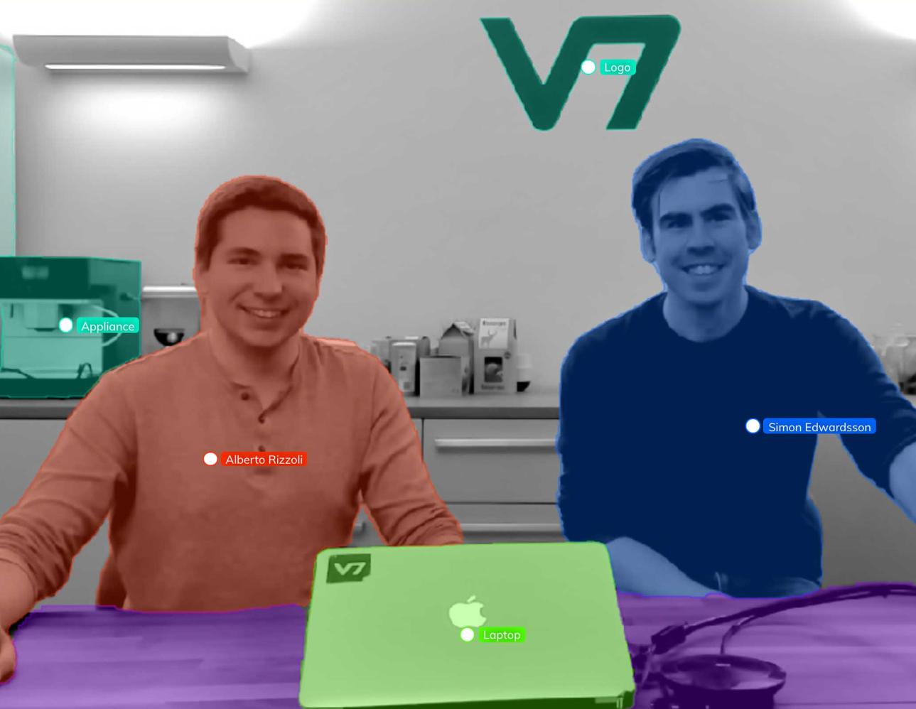 V7 Labs founders - Alberto Rizzoli and Simon Edwardsson