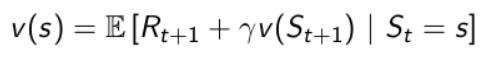 Policy improvement equation