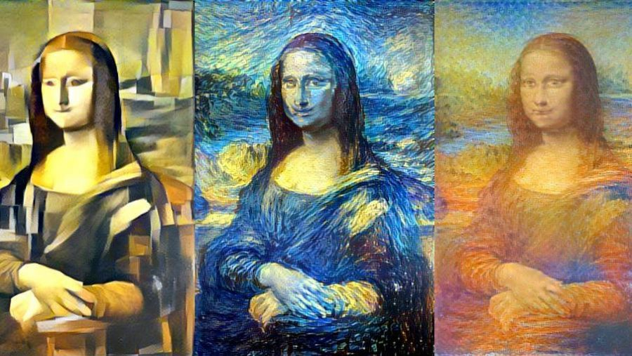 Neural style transfer performed on Mona Lisa painting