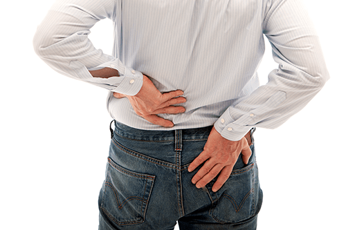 Kidney stones can cause severe back pain.