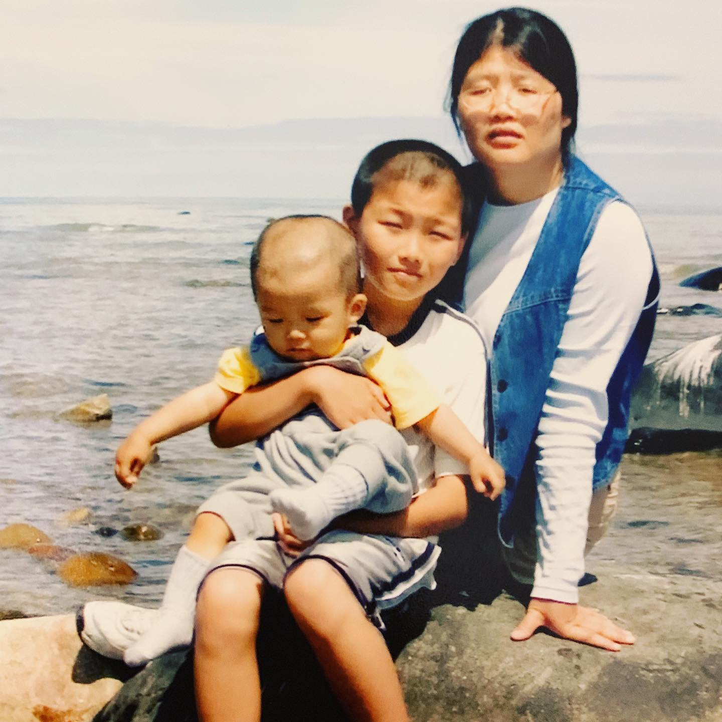 Kevin Zhang when he was a child with family