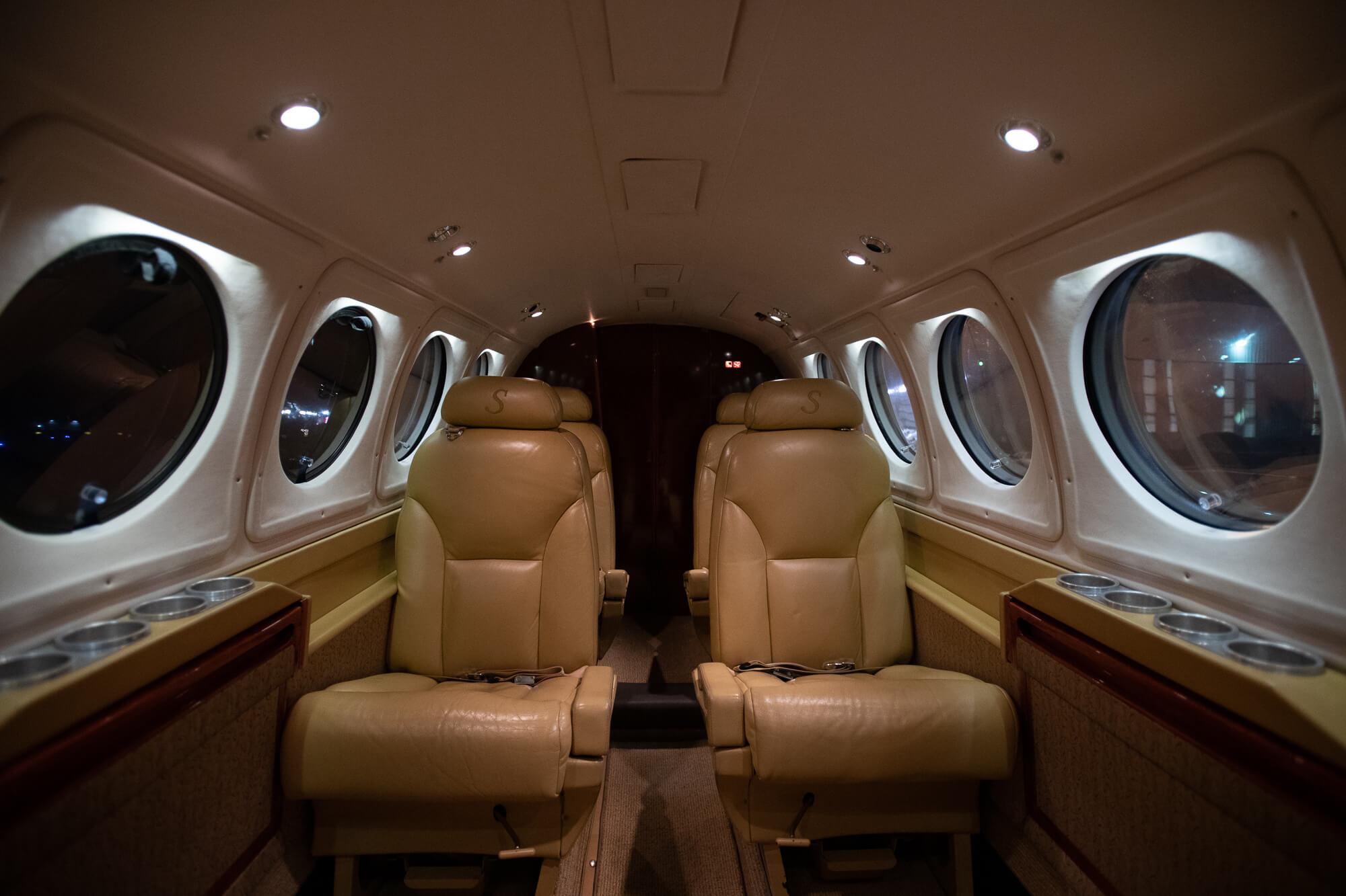 Interior of King Air