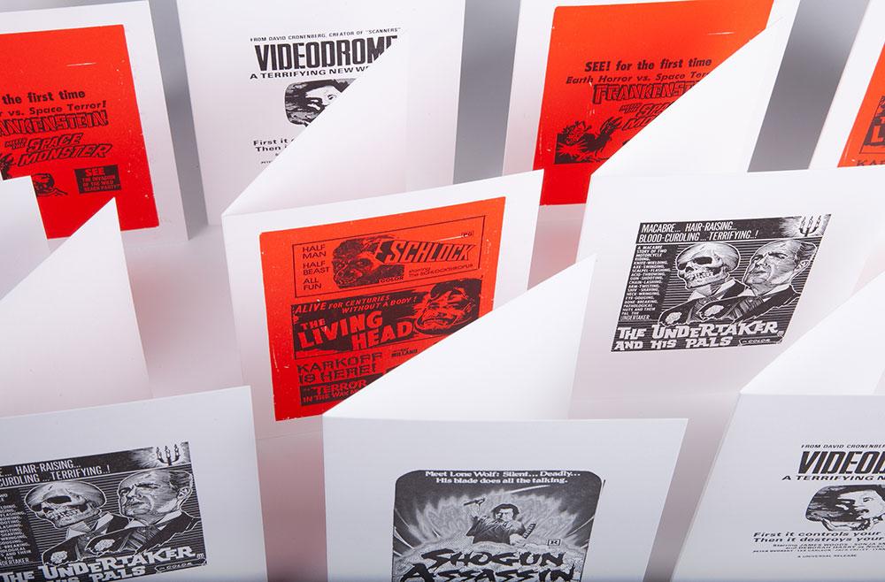 A medium shot of the letterpress
