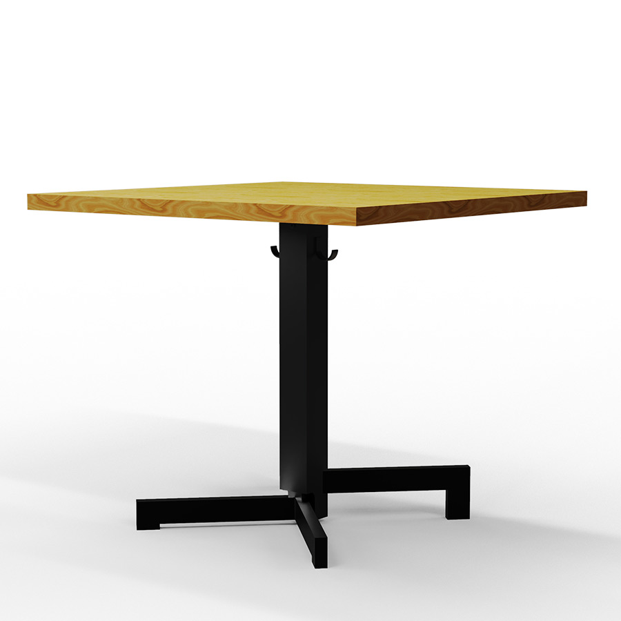 Flip top table base