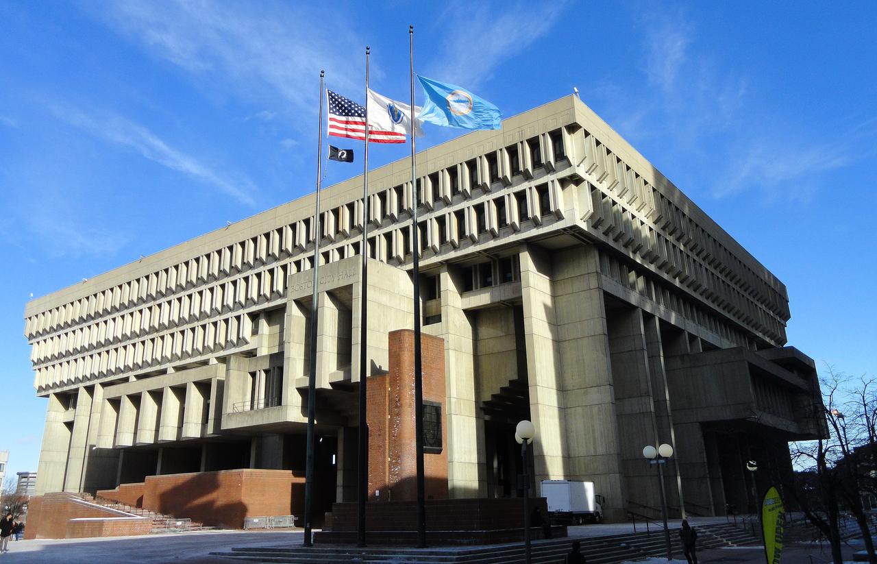 Boston City Hall designed by Kallmann, McKinnell & Knowles, 1968