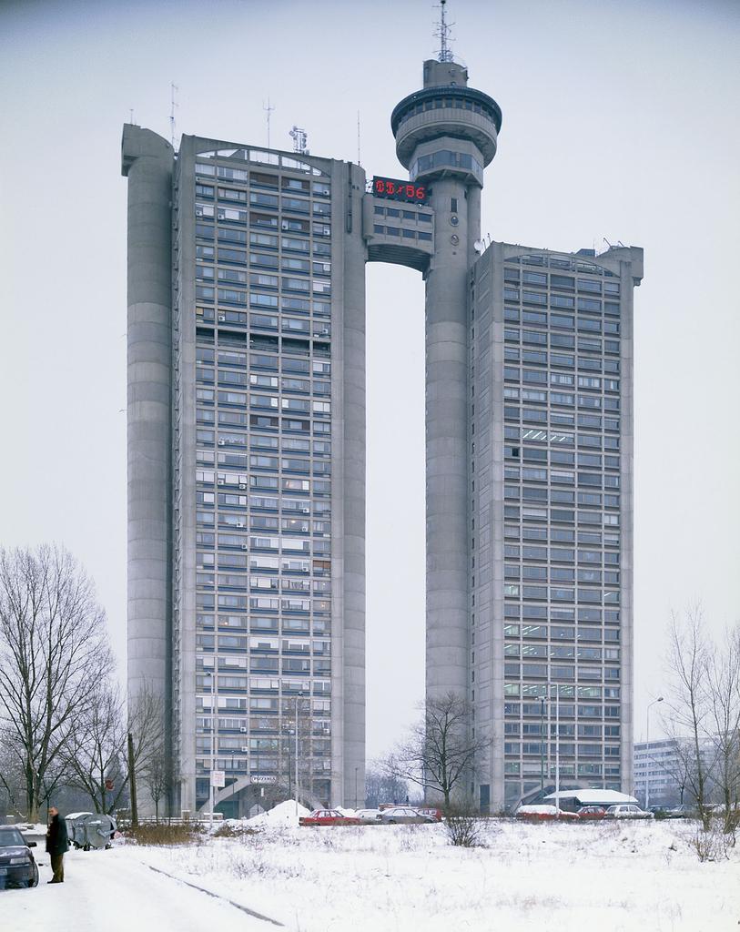 Western City Gate/Genex Tower designed by Mihajlo Mitrović, 1979