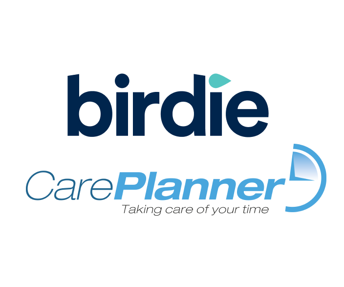 Birdie Medication manager showing medication schedule and partially taken medication