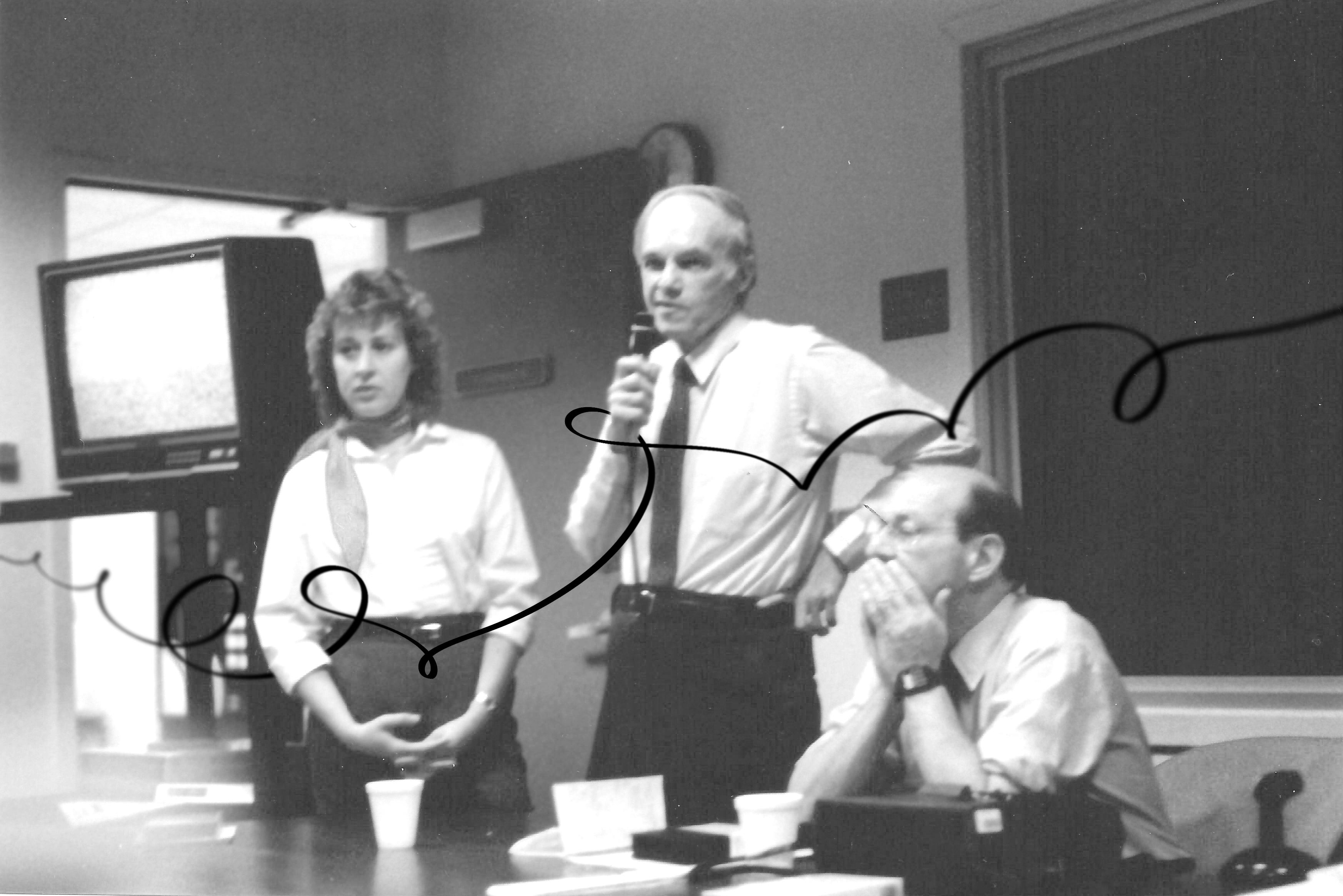 Fundadores del Brief Therapy Center hablando en una conferencia en 1972