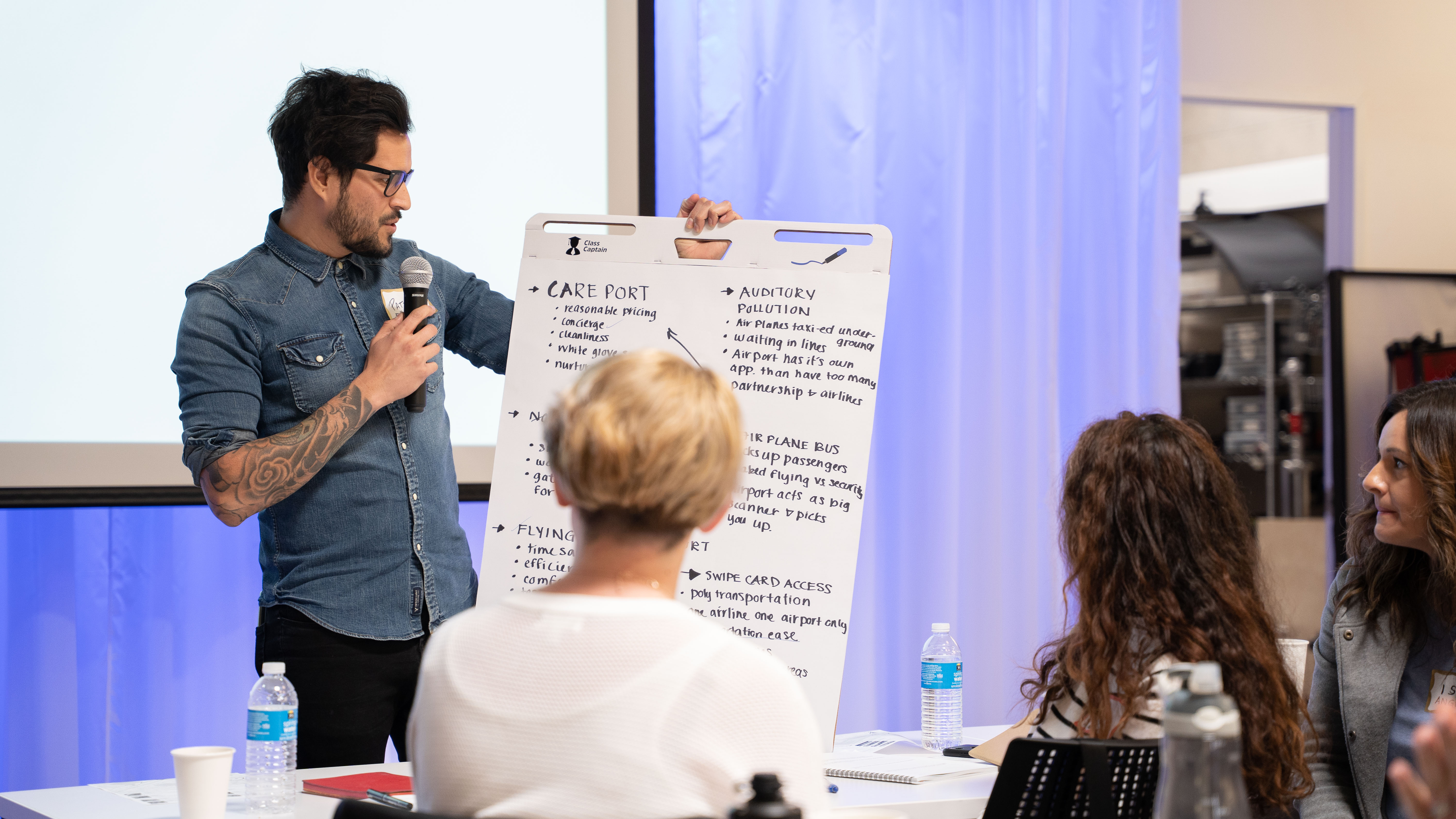 A participant shares his concept with the group.