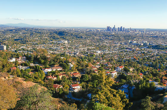 hiking view of los angeles