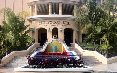 Entrance to Hollywood Hotel