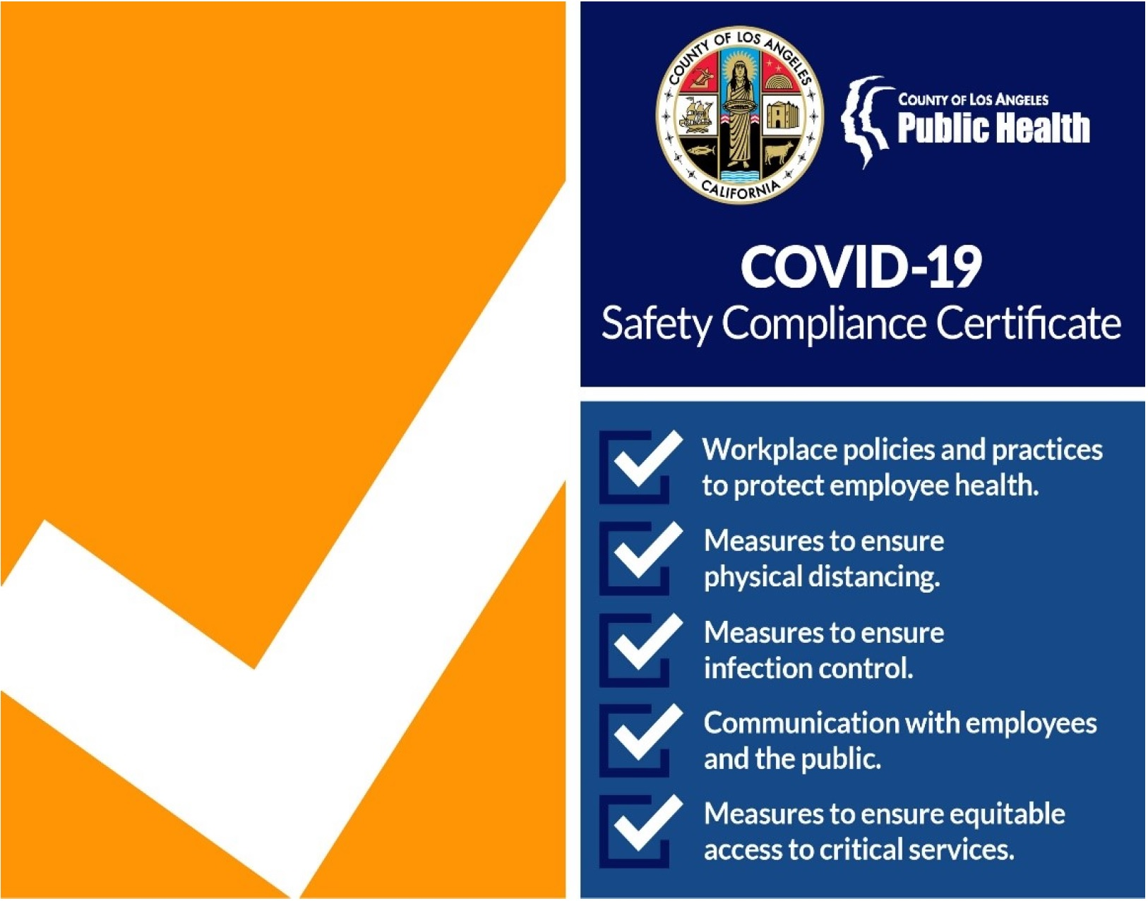 COVID 19 Safety Certificate