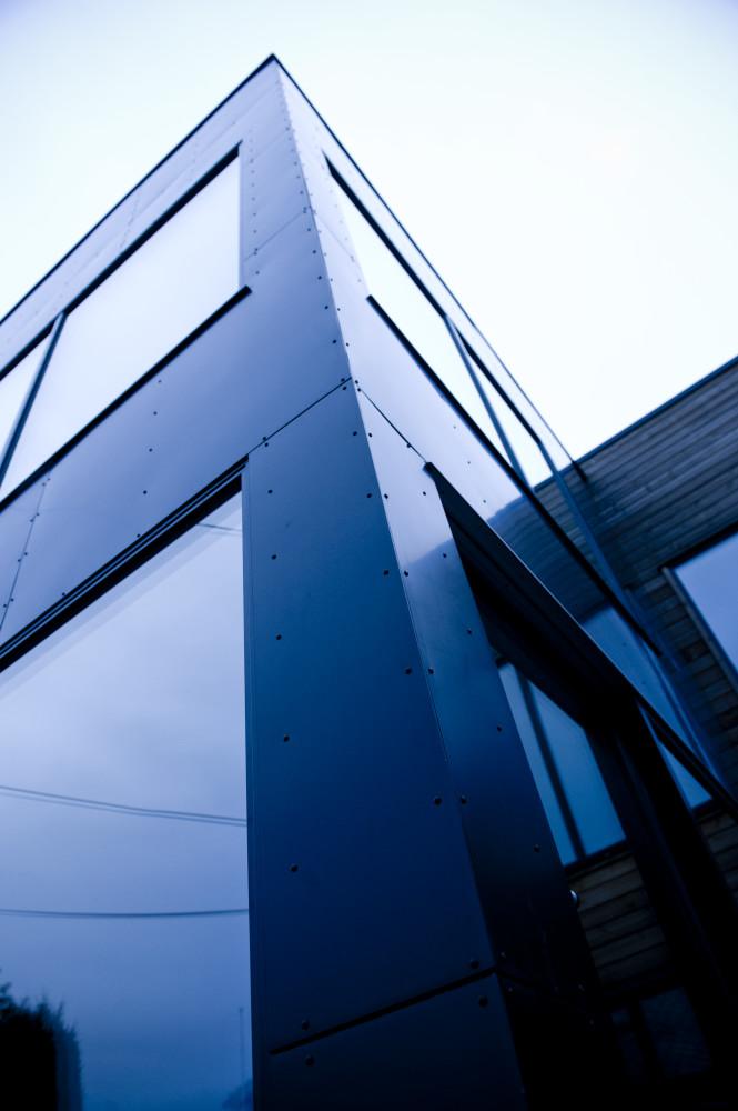 Glassfasade bygning