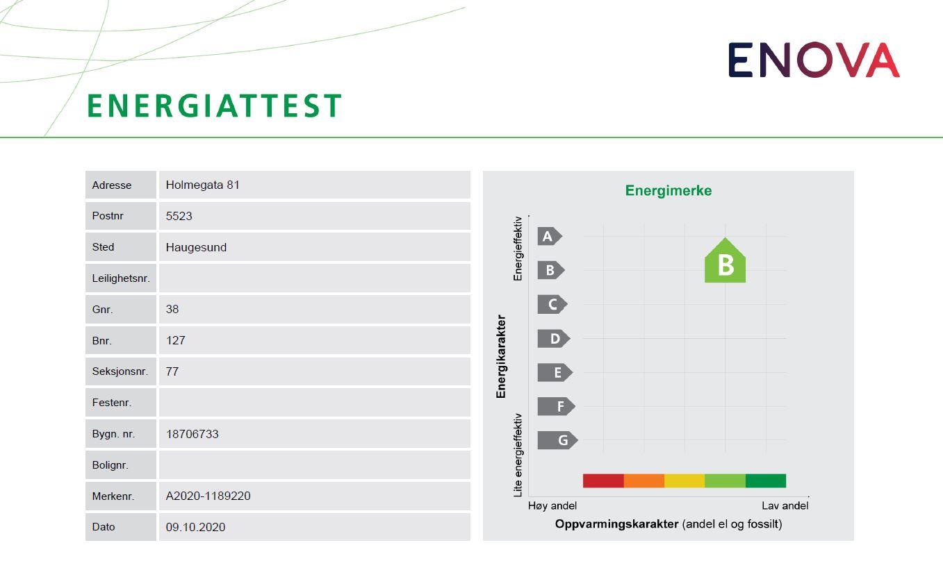 Energimerke lysgrønn B