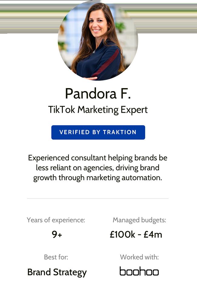 Traktion Marketer - Pandora F-S