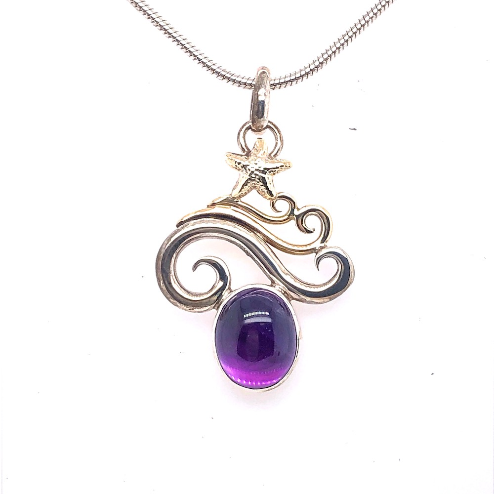 amethyst necklace pendant