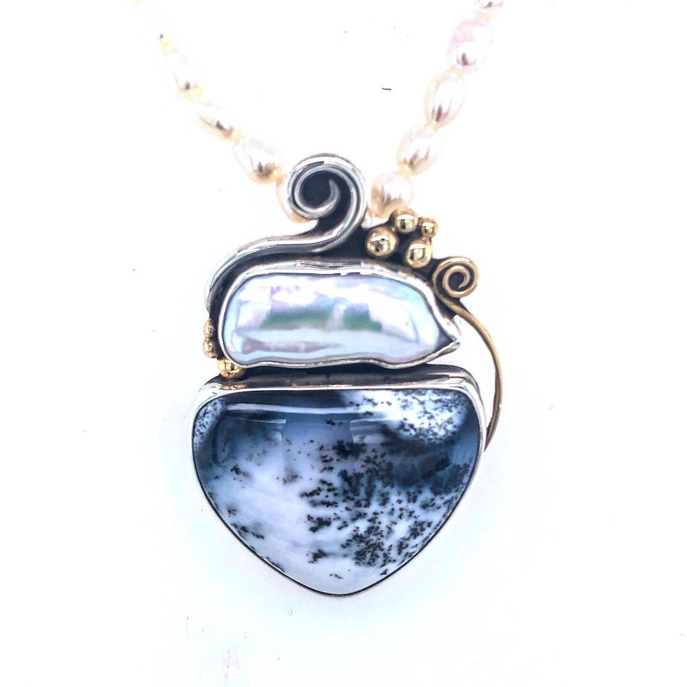 dendrite necklace pendant