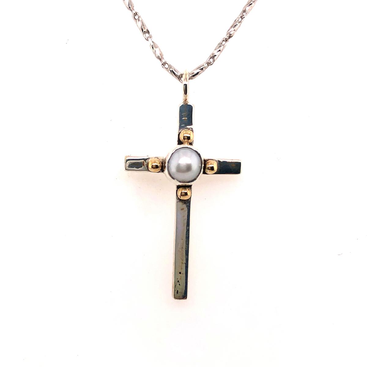 Pearl Cross Pendant