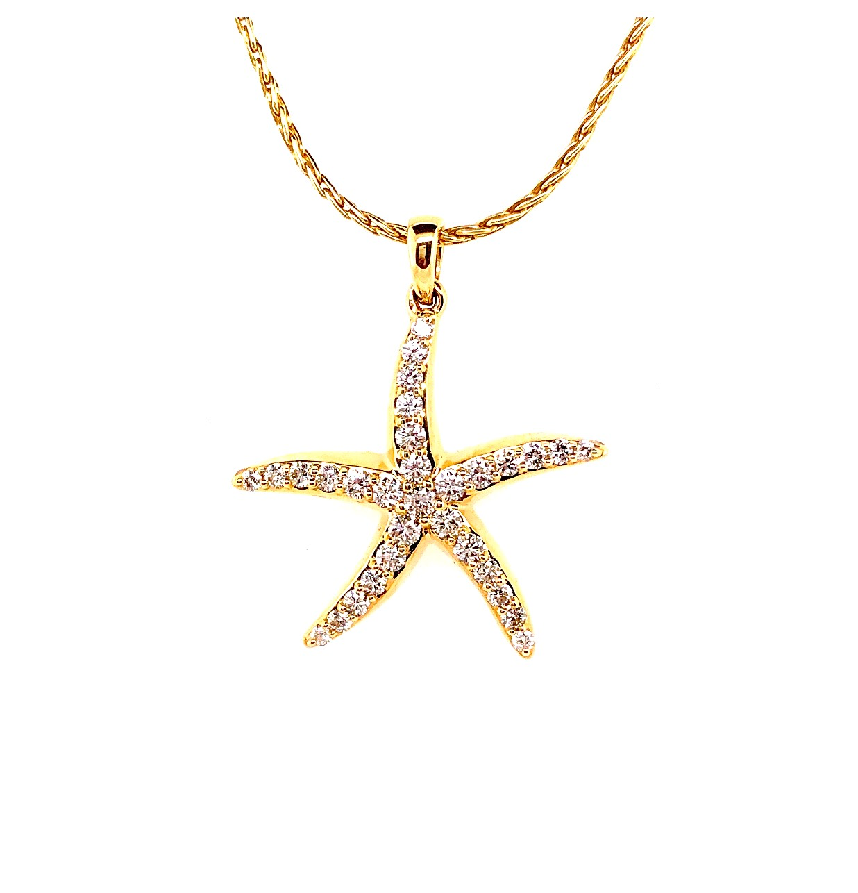 Starfish Yellow Gold Pendant