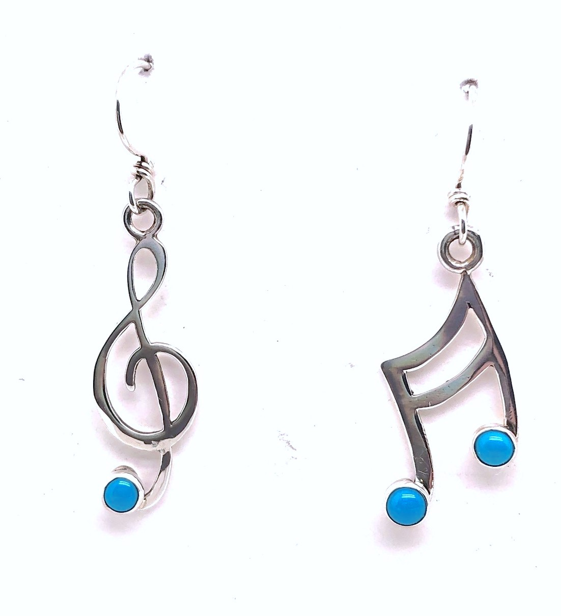 Music Notes with Turquoise Earrings