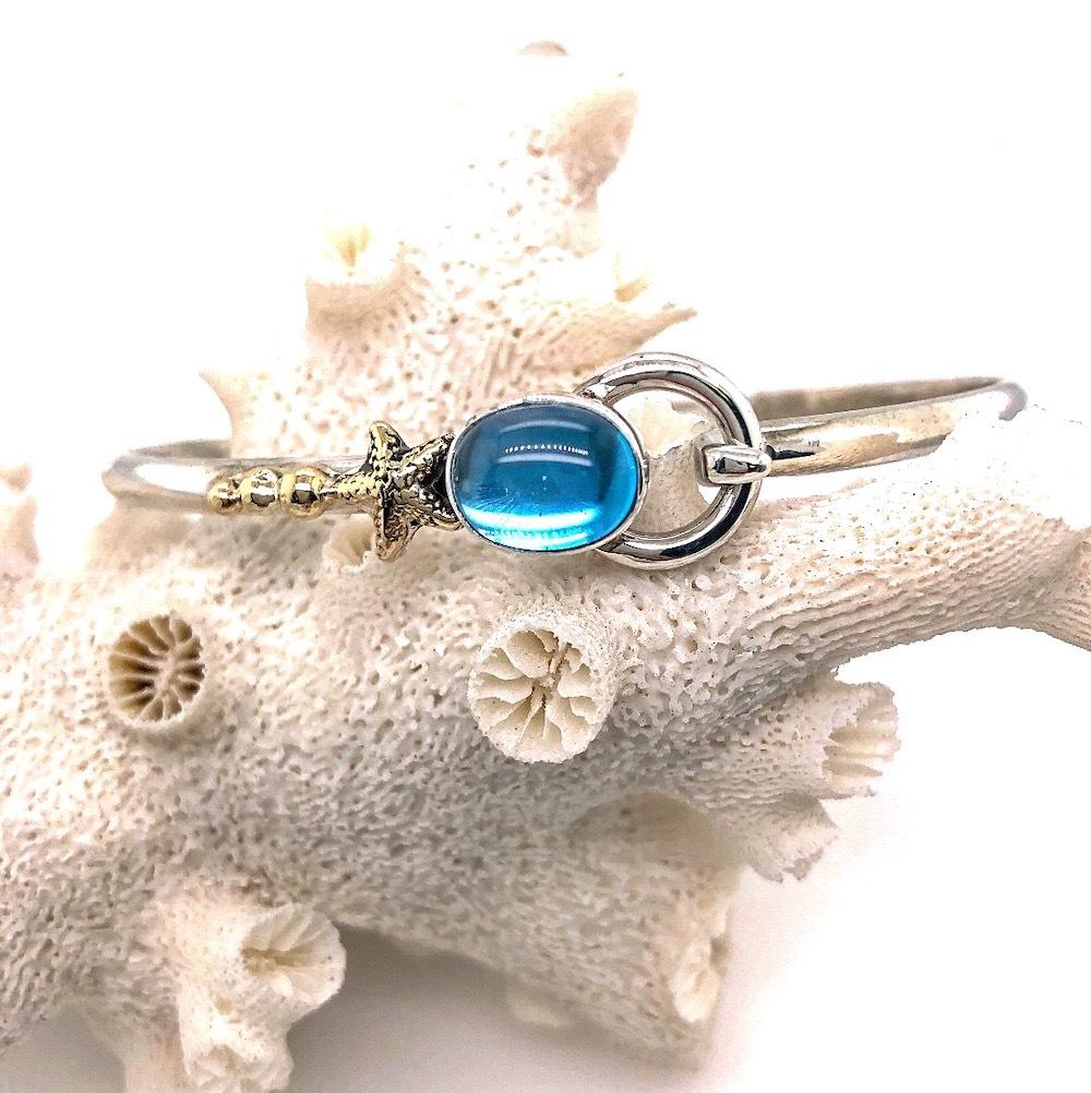 Blue Topaz Hook bracelet