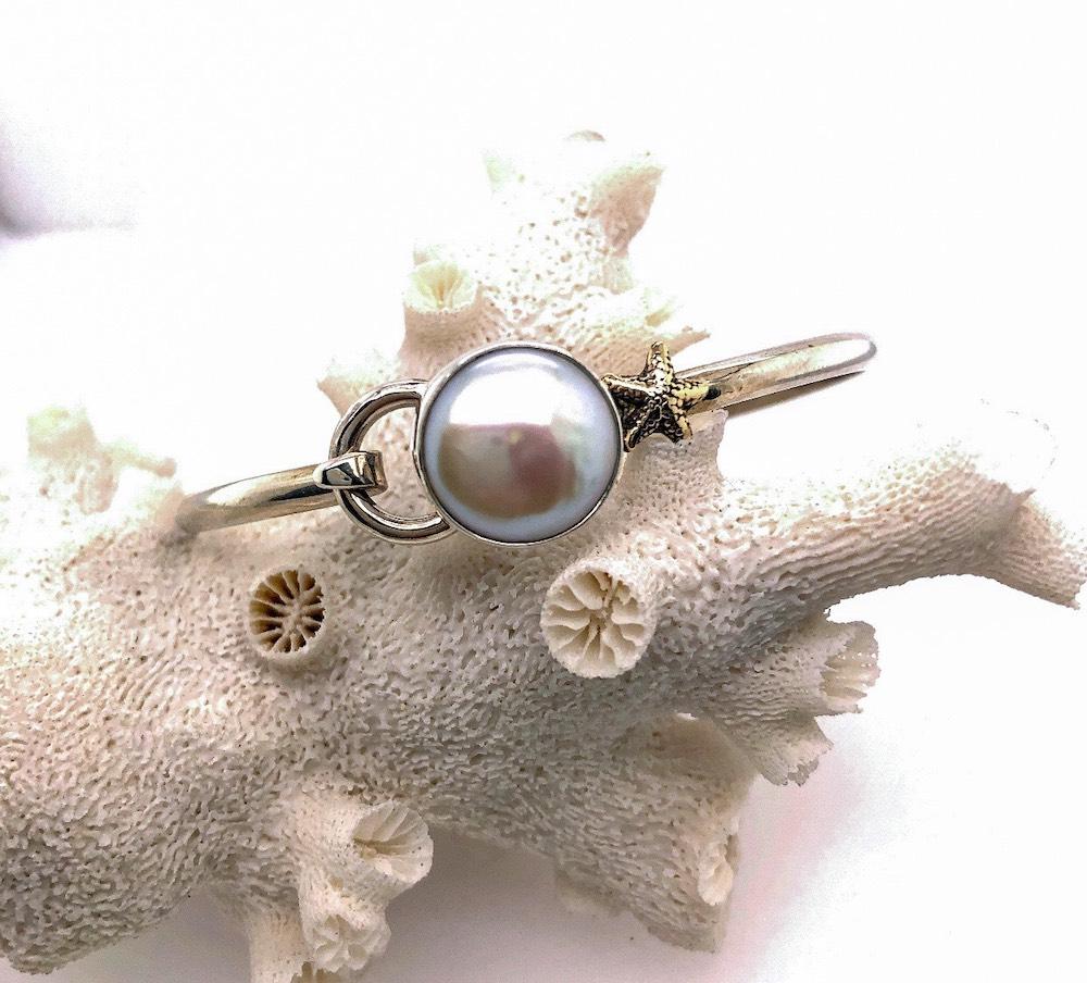 Coin Pearl Starfish Hook bracelet