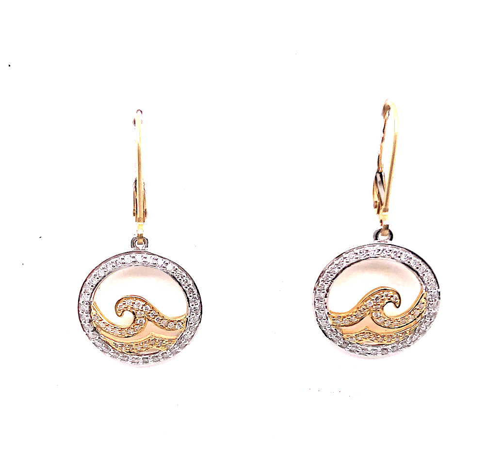 Rip Curl Yellow & White 14kt Earrings