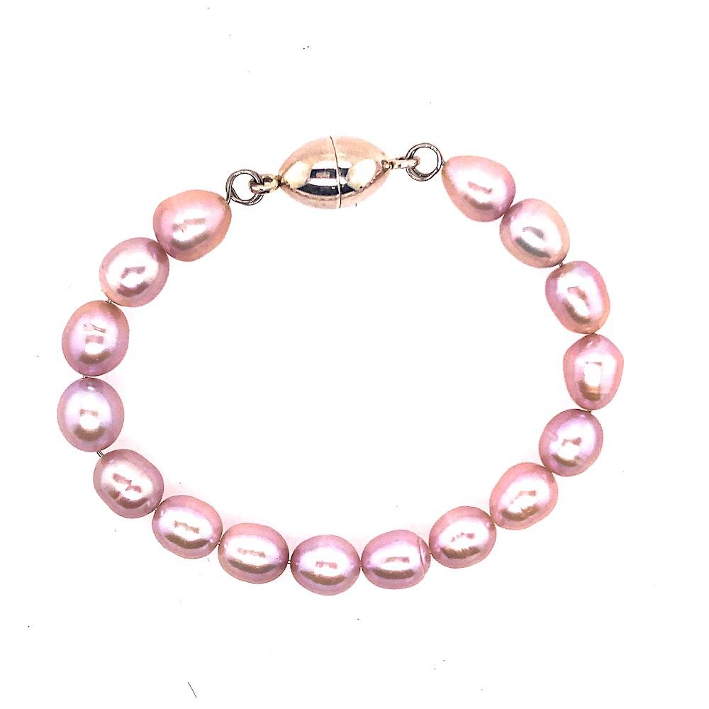Pink Pearl Magnetic Bracelet