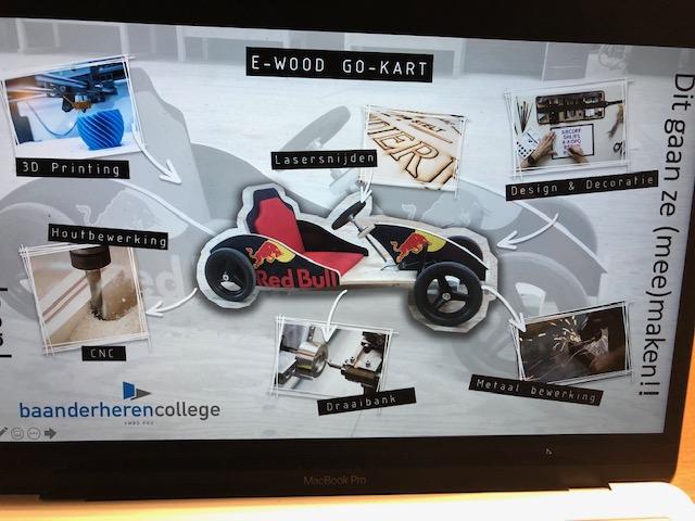 Samen een E-Wood Gokart maken bij Baanderherencollege