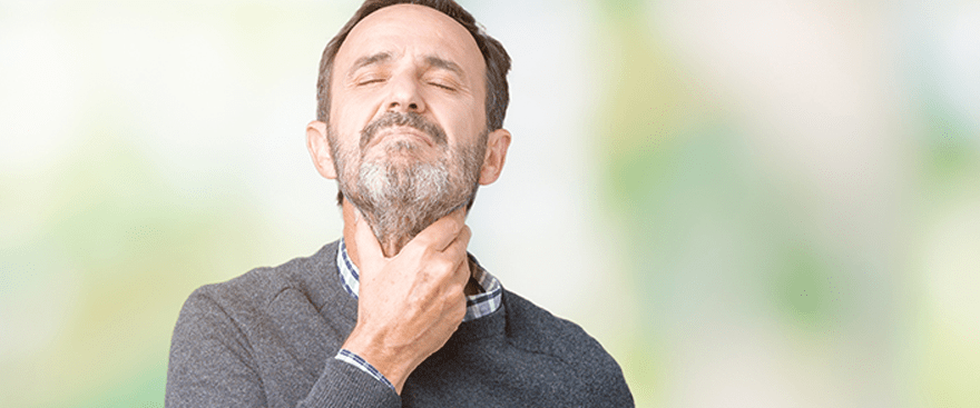 Hoarseness refers to an abnormality in your voice, and can manifest itself in rough or raspy vocal pitch.