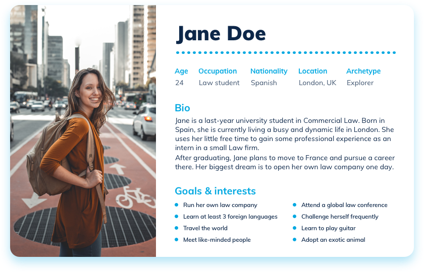 Jane Doe - our example persona