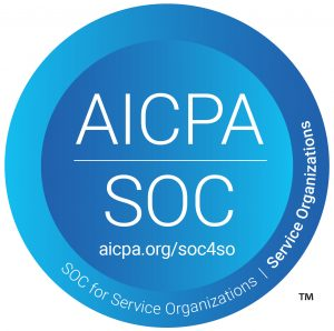 SOC for Service Organizations logo for SOC 2 Type 2 and SOC 3
