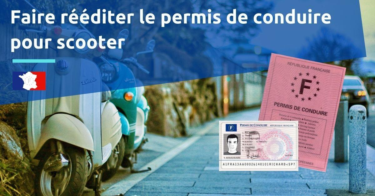réédition permis de conduire scooter