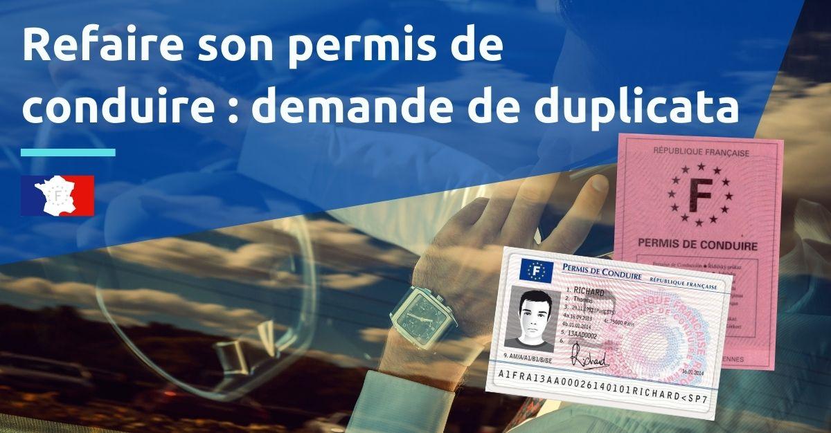 refaire permis de conduire