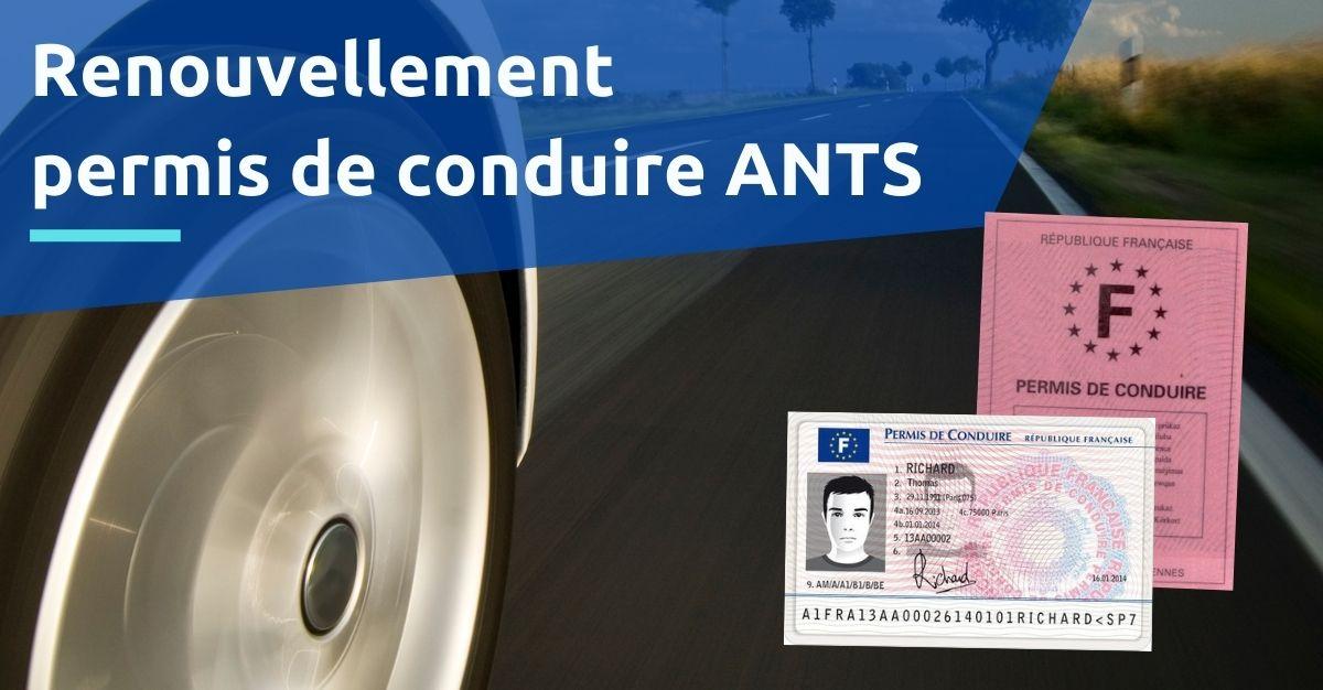 renouvellement permis de conduire ANTS