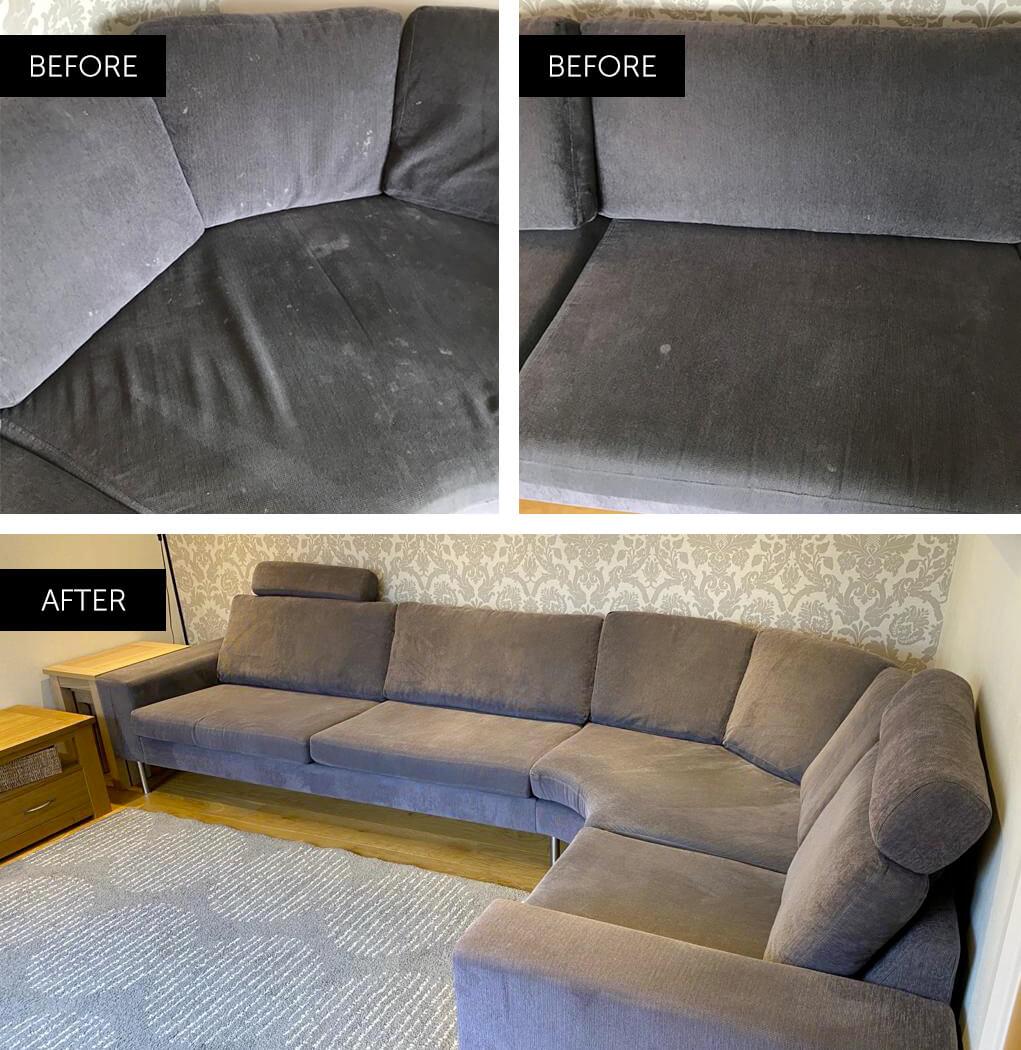 corner sofa cleaned