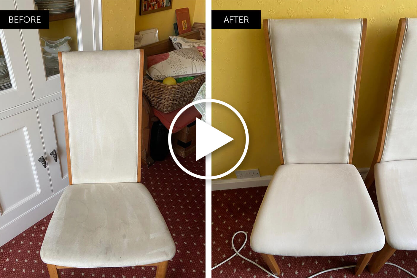 dining room chairs professionally cleaned