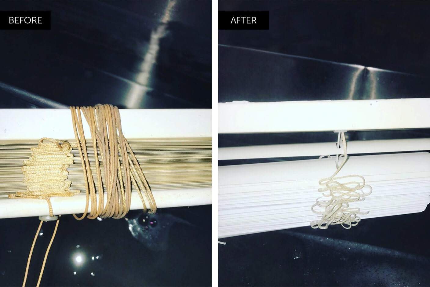 ultrasonic blind cleaning before and after
