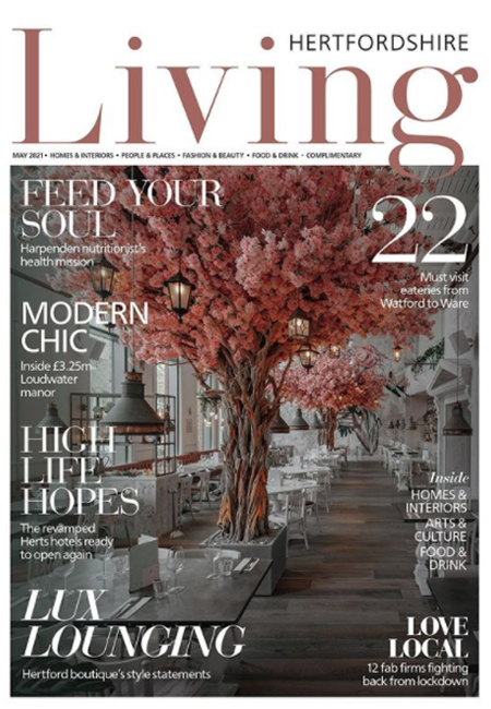 hertfordshire living magazine front cover may 2021