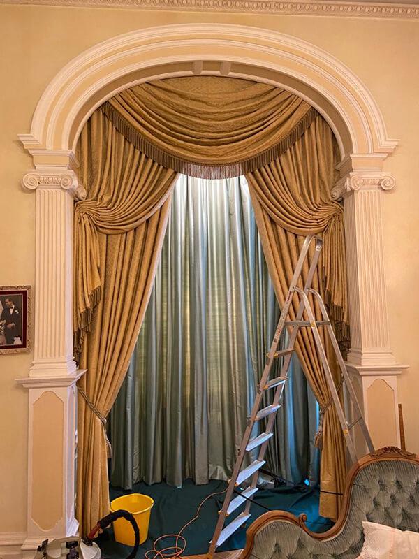 curtain cleaning in situ - London