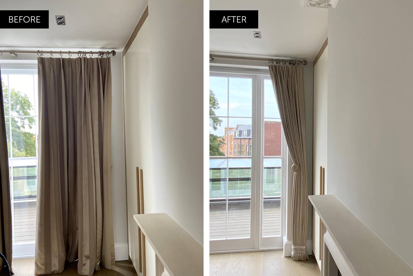 curtain cleaning before and after