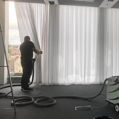 commercial curtain cleaning