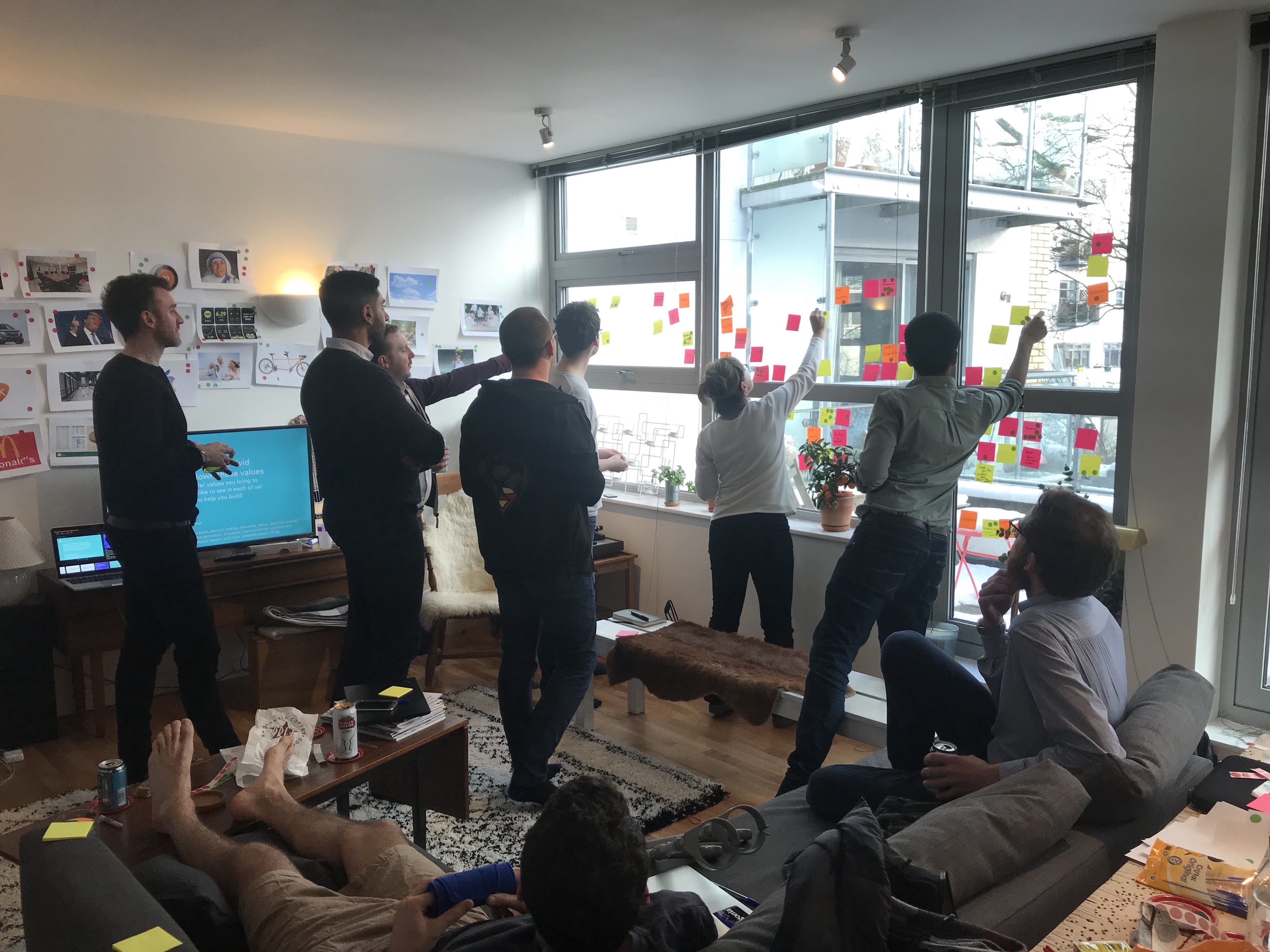 the birdie team defining culture and our company values during a workshop