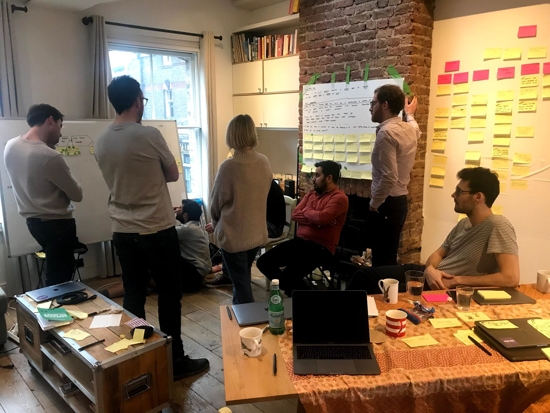 A group of people in a startup workshop