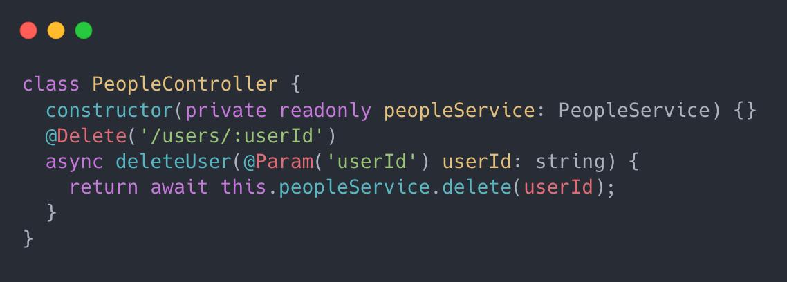 Developer code example